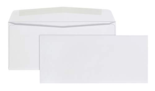 Amazon Basics #9 Envelopes with Gummed Seal, Security Tinted, 100-Pack