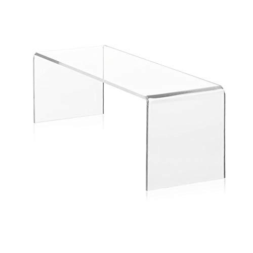 LAC Tavolino Comodino Consolle Soggiorno Salotto in plexiglass acrilico Trasparente accessorio Design poggiapiedi - Spessore 10mm - 40x70x30
