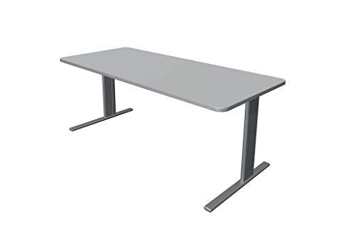Froschkönig24 Escritorio Unic, varios tamaños, mesa de oficina, mesa de oficina, color gris claro, tamaño del tablero: 180 x 80 cm