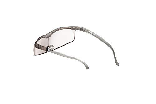 【Amazon.co.jp限定:倍率交換付き】 [ハズキカンパニー正規品] ハズキルーペ コンパクト カラーレンズ 1.32倍 チタンカラー メガネ型拡大鏡