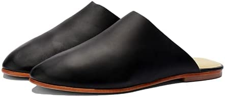 Nisolo Lima Slip On - Backless Leather Casual Slip-Ons, Comfortable Minimalist Home Slippers, Soft, Pack Flat for Easy Travel, Handmade Shoes by Artisans for Women