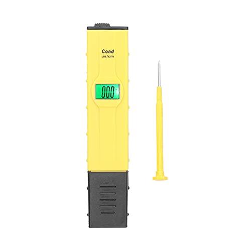RANNYY Hydroponischer Analysator, EC-Teststift LCD-Display Hydroponischer Analysator mit automatischer Temperaturkompensationsfunktion