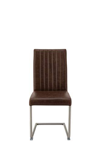 Moebilia set van 2 | schommelstoel | antiek lederlook | 47 x 59 x 96 cm
