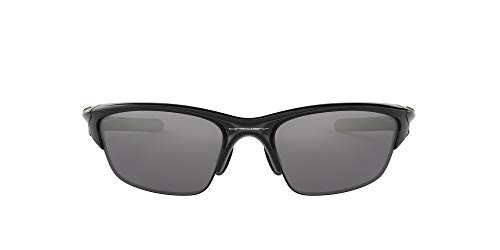 Oakley Men's Half Jacket 2.0 Rectangular Sunglasses, Black Iridium Lens , Polished Black