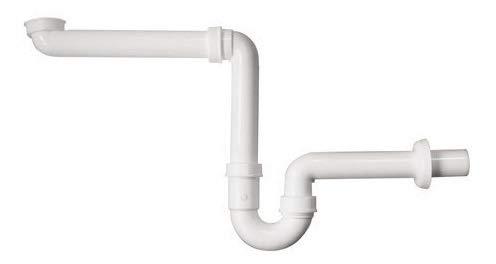 Sanitop-Wingenroth Raumspar-Siphon für unterfahrbare Waschtische, Siphon in 1 1/4 x 32 mm, weiß, barrierefreier Röhren-Geruchsverschluss, Möbel-Siphon, Kunststoff, 22560 1
