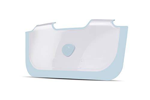 NUEVO BabyDam Bathwater Barrera | Bañera de hidromasaje bebé | Blanco/Azul | Convierte un baño estándar a un baño de bebé