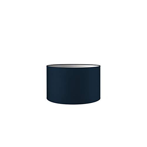 Abat-jour rond | Bling | Abat-jour en tissu | Abat-jour en coton | Pour E27 douille | diamètre 35cm, hateur 21cm | Bleu foncé | Pour tous vos espaces intérieurs IP20 | Hors ampoules |