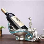 WFBD-CN Estante de vino de resina creativa personaje de vino titular de la personalidad de la botella de vino soporte de la botella de vino estante