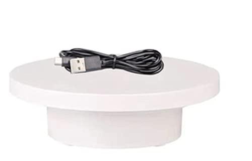 BAOSHISHAN Drehbarer Plattenspieler-Display Plattenspieler-Fotoständer für Live-Video-Produktdisplay (weiß)