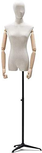 JinSui Maniqui Regulable Costura Maniqui La Cabeza y el Brazo de Montaje en trípode de Metal Negro Profesional Pueden Girar la exhibición de Ropa de diseñador de Moda del maniquí del Vestido