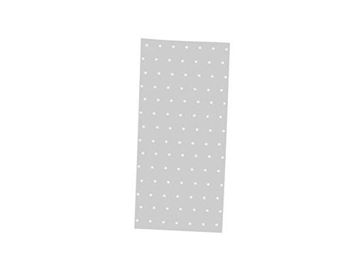 Lote de 100 Bolsas Celofán Transparentes con Lunares Plata. Complementos. Detalles de Bodas, Bautizos, Comuniones y Eventos. 13 x 30 cm