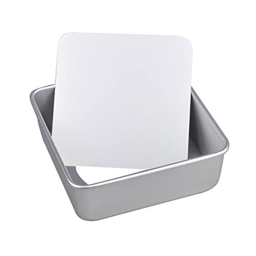 WACLT Bandeja para hornear de 8/10 pulgadas, disco de torta cuadrada de óxido de aluminio, herramienta desmontable antiadherente inferior (Size : 26.5cm)