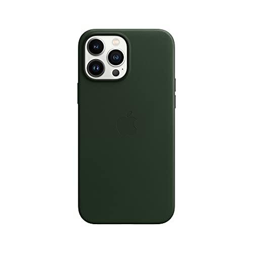 Apple Leder Hülle mit MagSafe (für iPhone 13 Pro Max) - Schwarzgrün