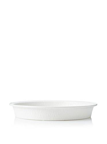 SELETTI – Le Bakin Plat Rond en Porcelaine Blanche ø cm. 29 H.4, Blanc
