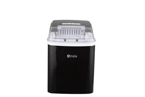 AMSTA - AMIM77029 - Machine à Glaçons - 12Kg/24H - Arrêt cuve pleine - Ecran tactile - 120 watts - Noir