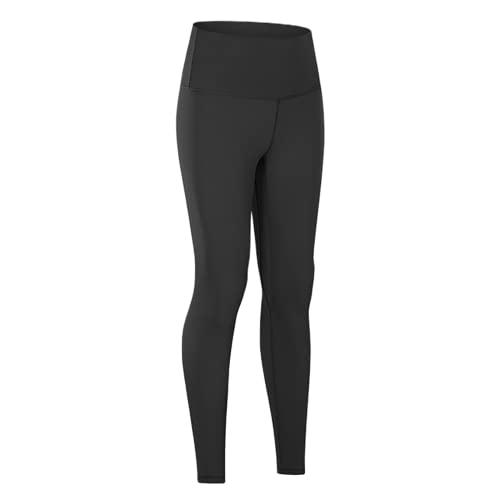 QTJY Medias de Control de Abdomen Cintura Alta Levantamiento de Cadera Yoga Medias Protectoras en Cuclillas Desnudas Entrenamiento Correr Pantalones de Yoga A XL