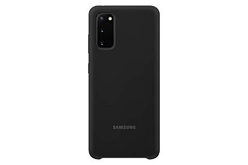 Samsung Silicone Smartphone Cover EF-PG980 für Galaxy S20 | S20 5G Handy-Hülle, Silikon, Schutz Hülle, stoßfest, dünn & griffig, schwarz