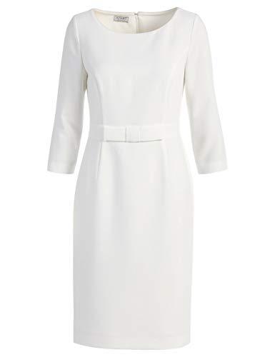 APART, Elegantes Damen Kleid, Brautkleid, Etuikleid, Farbton: Crème, Creme, 40
