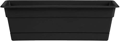 Bloem DCBT30-00 Dura Cotta Plant Window Box, 30-Inch, Black, 4 Gallon - New Version