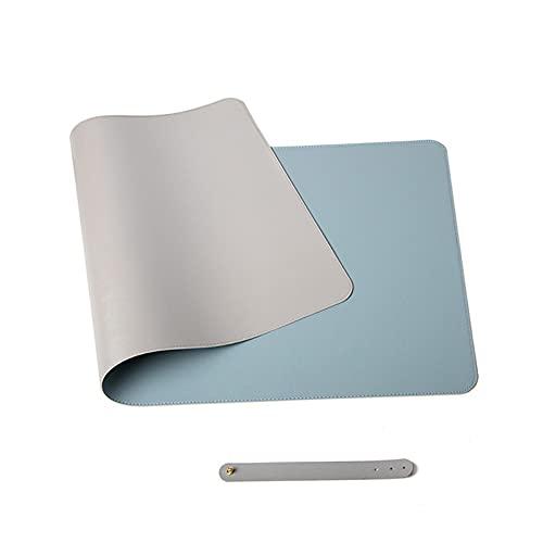 HANTURE Alfombrilla de escritorio de doble cara, 13.7 x 27.5 pulgadas, de piel sintética, grande, para teclado de ordenador, juegos, impermeable, protector de escritorio, para oficina, hogar
