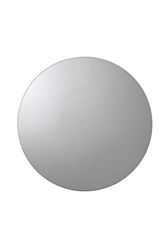 Croydex Severn Stainless Steel Circular Medicine Cabinet with Over Hanging Mirror Door, -