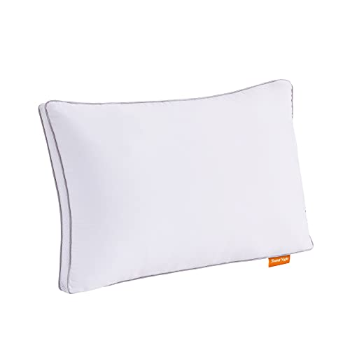 Sweetnight Pillows Pack of 1 Support Bed Pillows-100% Cotton Fabric Anti...