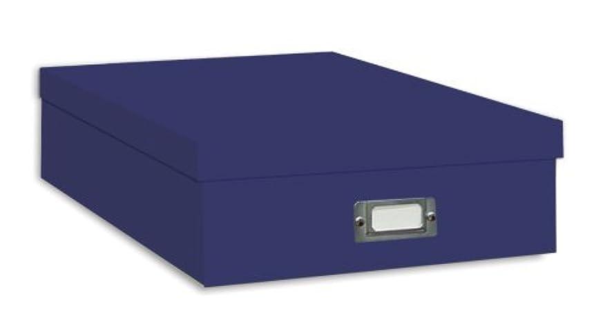 TSVP Jumbo Scrapbook Storage Box, Bright Blue