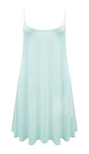 Hemdjurkje voor dames - swing jurk/hemdje/topje - lang/wijd uitlopend - mouwloos/spaghettibandjes - met print
