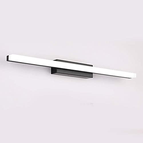 XIAOZHEN Lámpara Tecnología Voltaje Superior de Luces Single-Negro-Cool Acero Inoxidable Circuito de Control Inteligente (Color : Blackcold White, Size : 70cm16W)