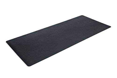 """MotionTex Exercise Equipment Mat for Under Treadmill, Stationary Bike, Rowing Machine, Elliptical, Fitness Equipment, Home Gym Floor Protection, 36"""" x 84"""", Black"""