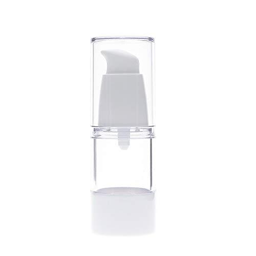 DMX Tragbare Beschriftung leerer Behälterflasche Transparente nachfüllbare Leere Kunststoff Parfüm-Flasche Airless Pumpe Vakuumverpackungen for die Kosmetik-Reisen Dispenser 15ml