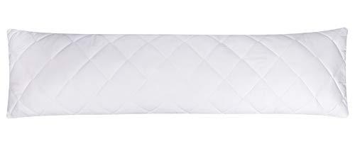 Moon Premium Seitenschläferkissen Viscoschaum Flocken mit Memory Effekt 95° waschbar extra fest Bezug 100% Baumwolle 40x145 cm