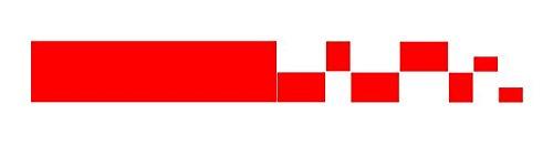 Autocollant rouge Bande de rallye, damier, tuning. Sticker 80 x 10 cm