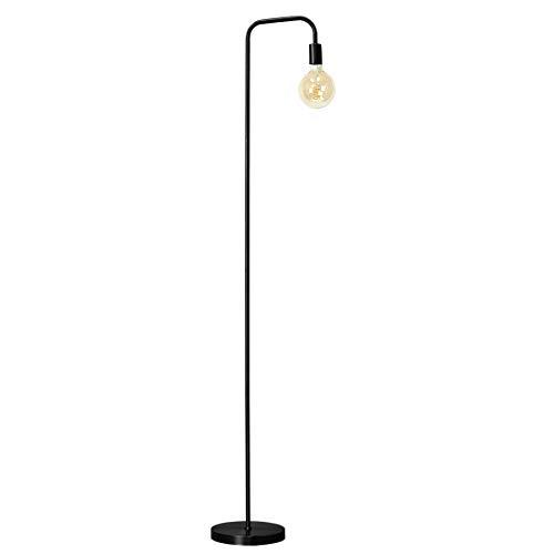 O'Bright Industrial Floor Lamp for Living Room, 100% Metal Lamp, UL Certified E26 Socket, Minimalist Design for Decorative Lighting, Stand Lamp for Bedroom/Office/Dorm, ETL Listed, Black