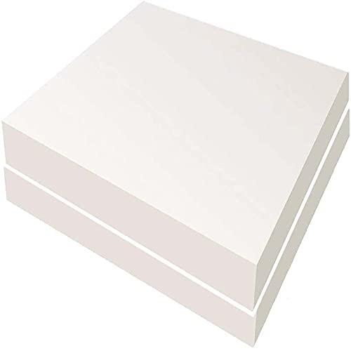 MOTT Cojín cuadrado de espuma de 3/5/7/10 cm de grosor, 2 unidades de relleno de espuma de repuesto, cojín de espuma expansible, taburete de asiento de tapicería de espuma