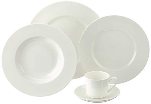 Rosenthal 61040-800001-18743 - Vajilla de Porcelana (1 Servicio, 5 Piezas), Color Blanco
