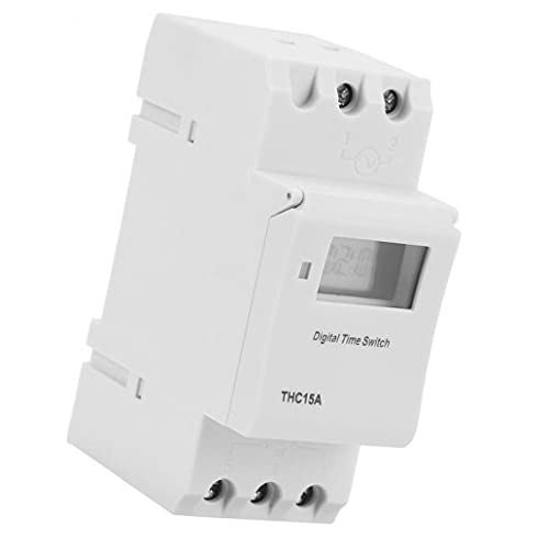 Temporizador programable de tren THC15A 220-240VAC Interruptor de temporizador de LCD digital para dispositivos automáticos -20~60 ? Temperatura de trabajo