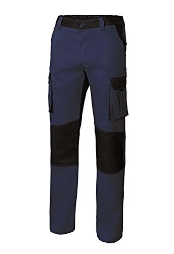 Velilla 103020B_61/00_46 pantalón Bicolor Multibolsillos, Azul Navy y Negro