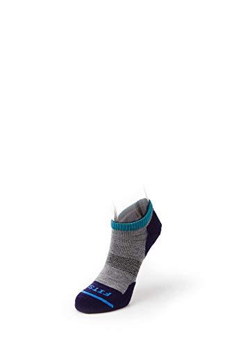 FITS Micro Light Runner - Low: Stylish Light Short Outdoor Running Socks -  Grey -  Medium