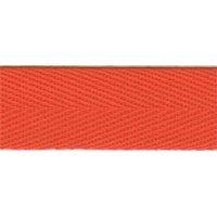 Ruban à chevrons-Coton Orange 50 m ²