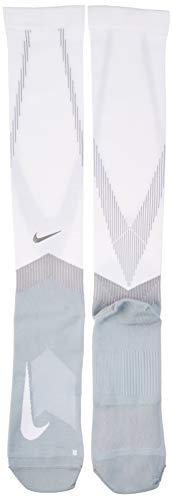 Nike U NK Spark COMP Knee HIGH Socks, White/Wolf Grey, 10