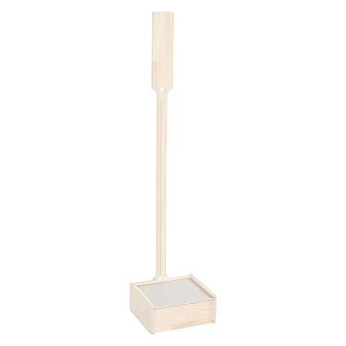 おしゃれな掃除機スタンド ホワイトウォッシュ 収納BOX付き 天然木 クリーナースタンド 幅27.5cm×奥行28cm×高さ129cm 立てて収納 充電可能 スティック掃除機 コードレス掃除機 ダイソンにもおすすめ