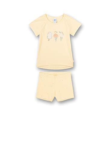 Sanetta Mädchen Pyjama Short, Uni gelb Baby-und Kleinkind-Schlafanzüge, Light Yellow, 128