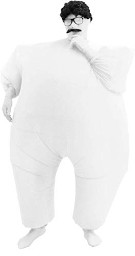 Inflatable Teen Chub Suit Costume (White)