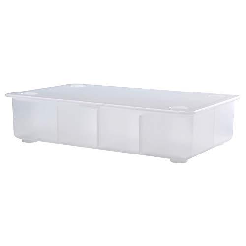 IKEA ASIA GLIS - Caja con Tapa, Transparente