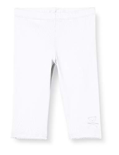 Steiff Baby-Mädchen Leggings, Weiß (Bright White 1000), 98 (Herstellergröße: 098)