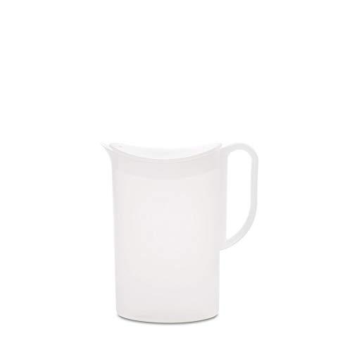 Mepal Wasserkanne mit Deckel 1.5 L, SAN, Weiß, 1,5 L