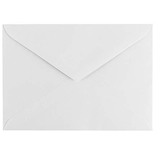 Briefumschläge | Din B6 (11,4 cm x 16,2 cm) | weiß | 100 Stück | Hohe Qualität: 100 g/m²