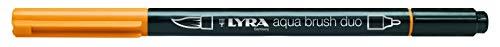 Lyra 6520008 - Rotulador acuarelable, doble punta, color amarillo canario