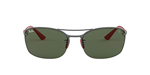 Ray-Ban Rb3617m Scuderia Ferrari Collection Óculos de sol quadrados, Metálico/verde, 62 mm